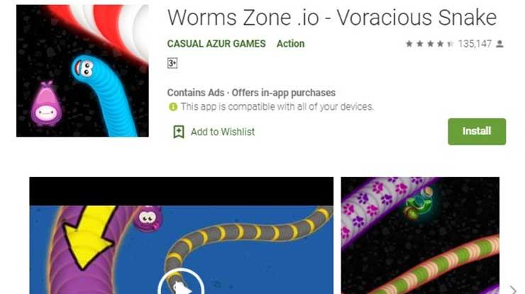 Instal Worms Zone