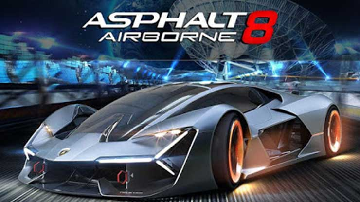 9. Asphalt 8 Airbrone Fun Real Car Racing Game