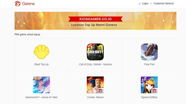 Top Up FIFA Online 3 via Kiosgammer