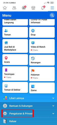 Pilih Menu Pengaturan Privasi 1