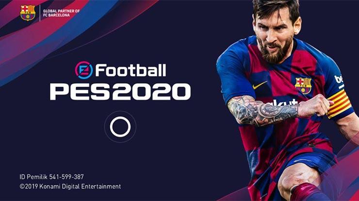 buka game PES 2020 di smartphone android