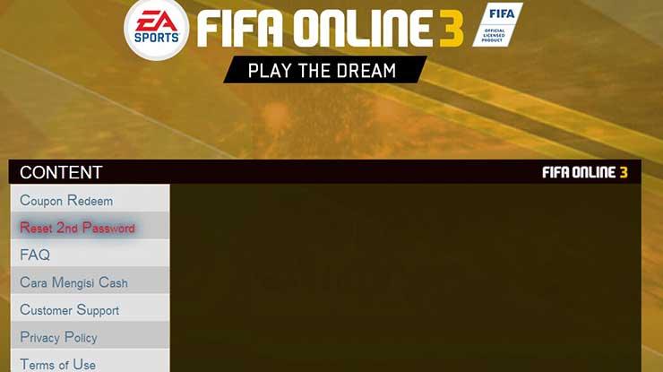 Cara Mengatasi Lupa Security Question FIFA Online 3