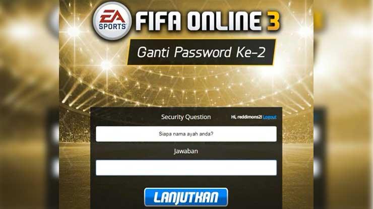 Cara Mengatasi Lupa Sequrity Question FIFA Online 3 Terbaru