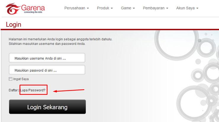 Cara Mengatasi Tidak Bisa Reset Password Garena