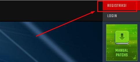 1. Silahkan buka website pointblank.id lalu pilih Registrasi