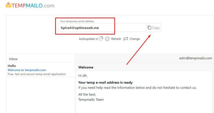 1. Silahkan kunjungi website tempmailo.com disana kamu akan menggunakan email yang gratis tanpa perlu ribet mendaftar