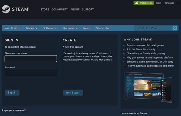 2. Login Steam