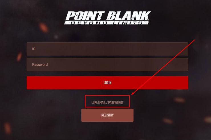 3. Jika sudah masuk ke halaman login maka kamu pilih Forgot Password