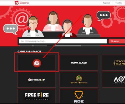 4. Nantinya kamu akan diarahkan ke halaman customer service dan disini kamu pilih menu yang menggunakan icon Email