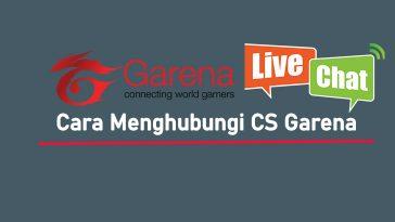 Cara Menghubungi CS Garena di Live Chat