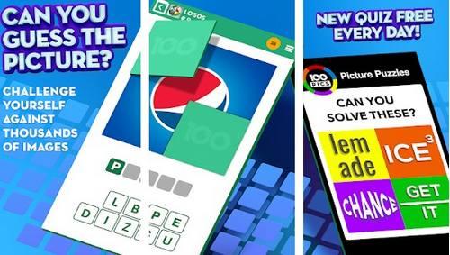 100 PICS Quiz Guess Trivia Logo Picture Games