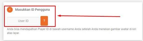2. Masukkan ID Pengguna