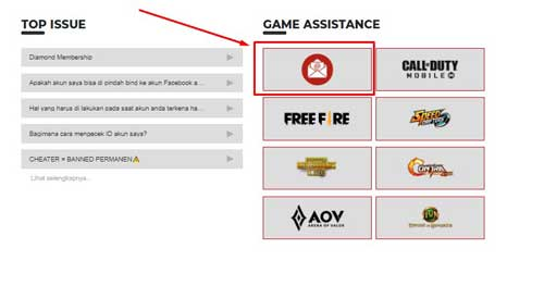 2. Pilih Support Form