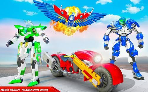 Flying Police Eagle Bike Robot Hero