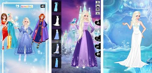 Icy or Fire dress up game Frozen Land