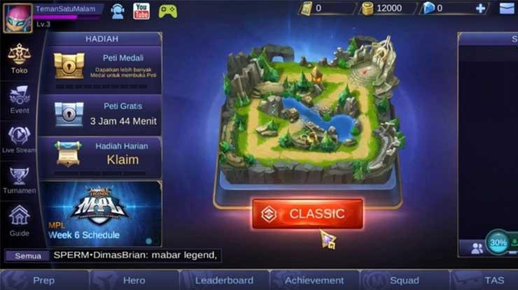 Kembali lagi ke game Mobile Legend