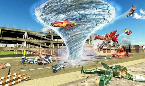 Transform Tornado Robot Games War Machine