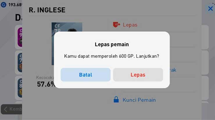 Cara Menjual Pemain Carry Over PES Mobile 2020