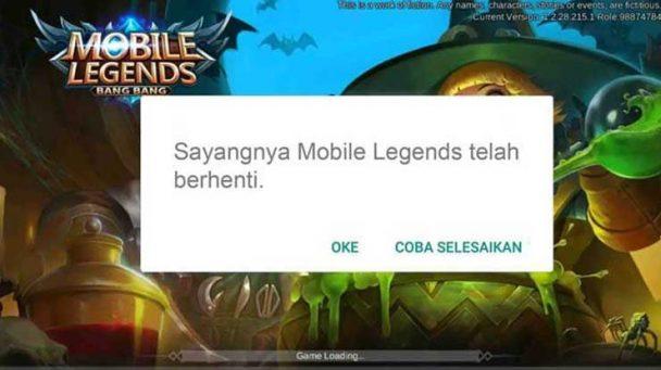 Ini Dia Penyebab Mobile Legend Tidak Menanggapi Beserta Solusinya