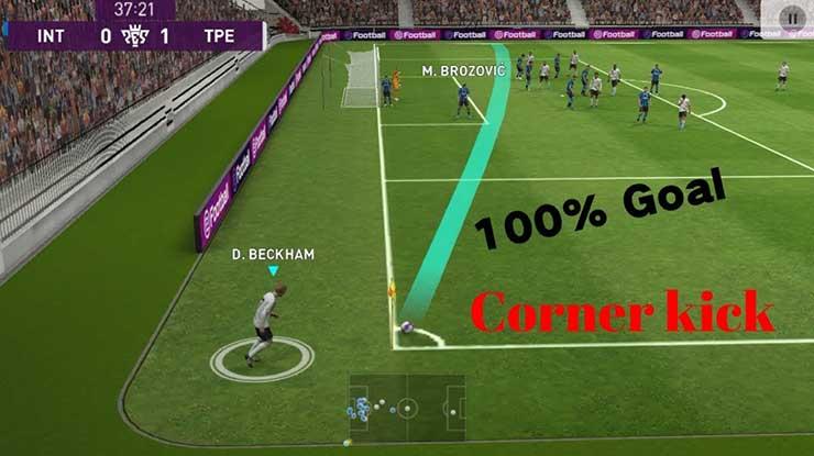 Tips Melakukan Trik Tendangan Sudut di eFootball PES 2020 Mobile