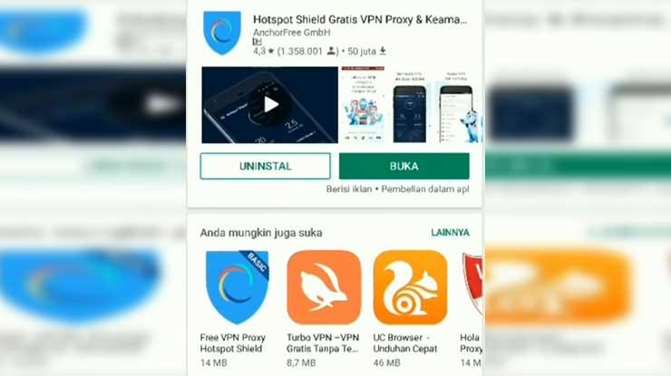 Aplikasi Hostpot Shield