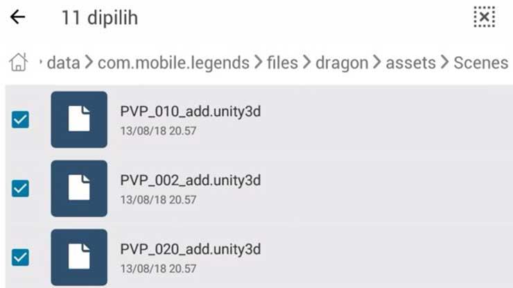 Backup data Mobile Legends