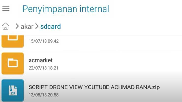 Hasil download Script Drone View Mobile Legends