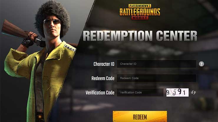 Masukkan karakter redeem code dan verification code