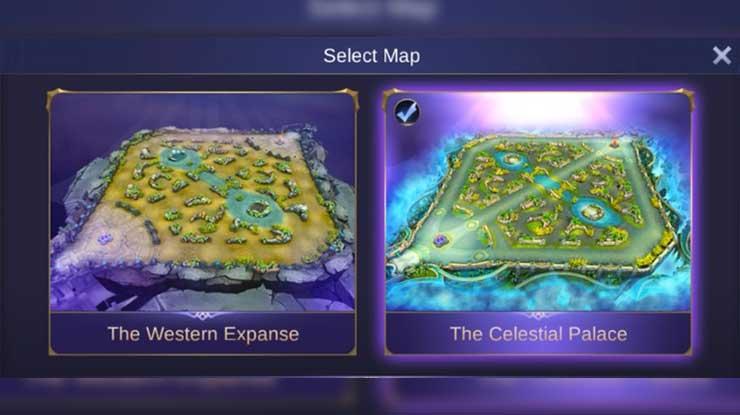Pilih Map The Celestial Palace