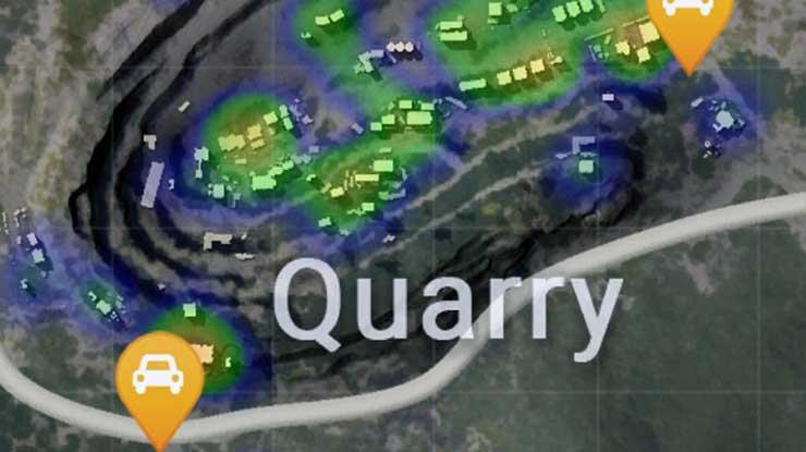Rumah Biru di Sekitaran Quarry