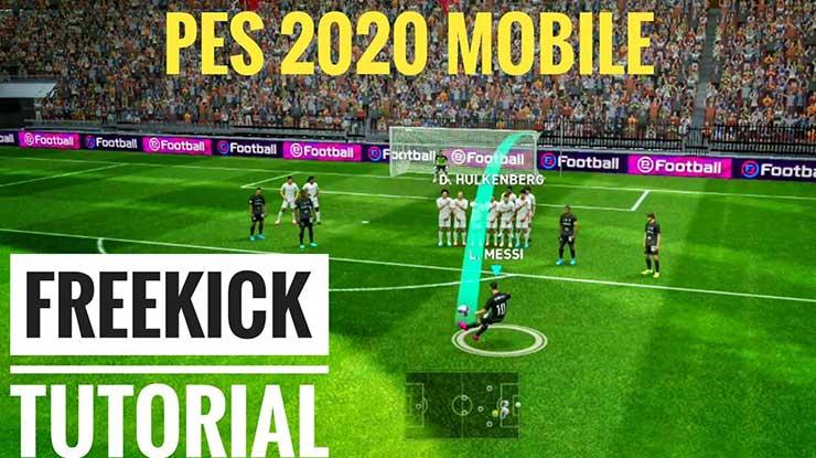 Trik Free Kick PES Mobiel 2020 Beserta Cara Melakukannya