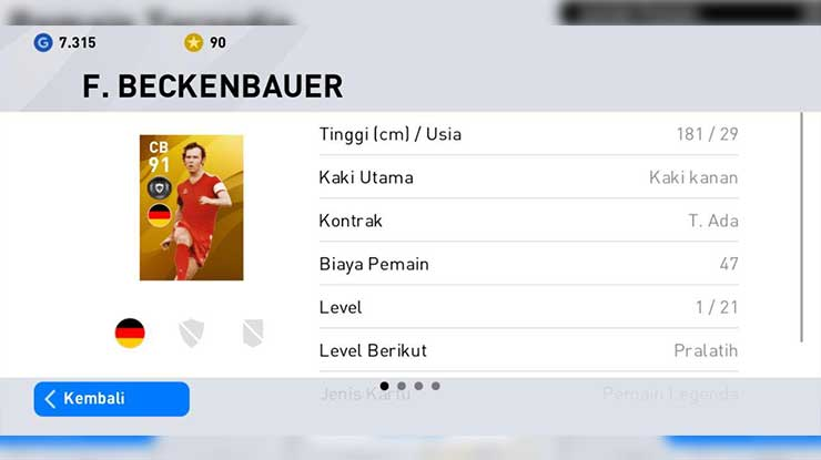 Trik Rolling F.Beckenbauer