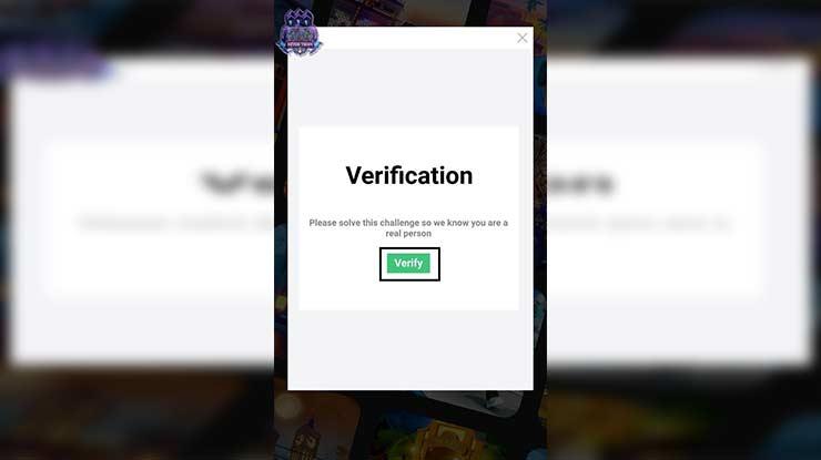 Tap Verify