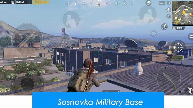 Rooftop Millitary Base di MAP Erangel