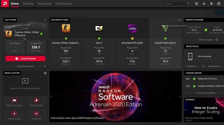 AMD Radeon Software Adrenaline