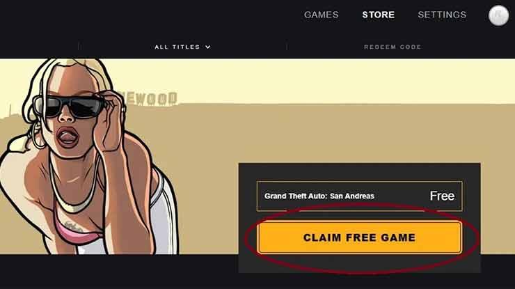 Klik Sembarang Pada Poster GTA San Andreas