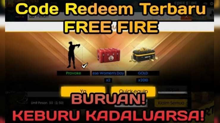 Kode Redeem Free Fire Terbaru Beserta Syarat Cara Menukurkannya