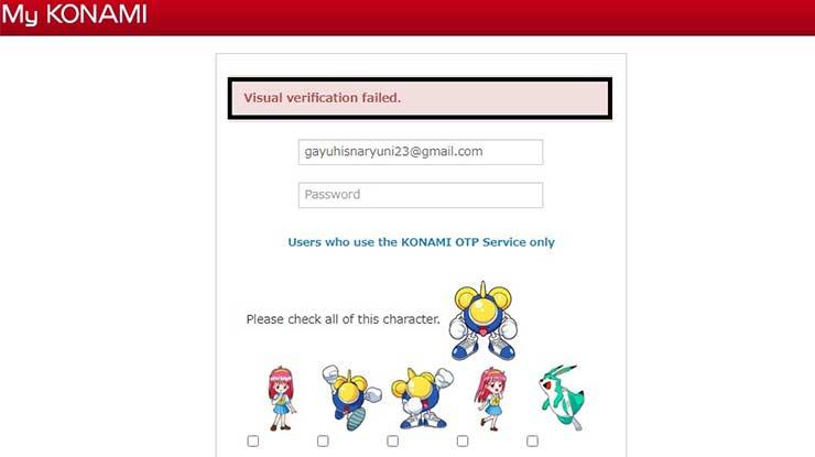 Lupa Password ID KONAMI