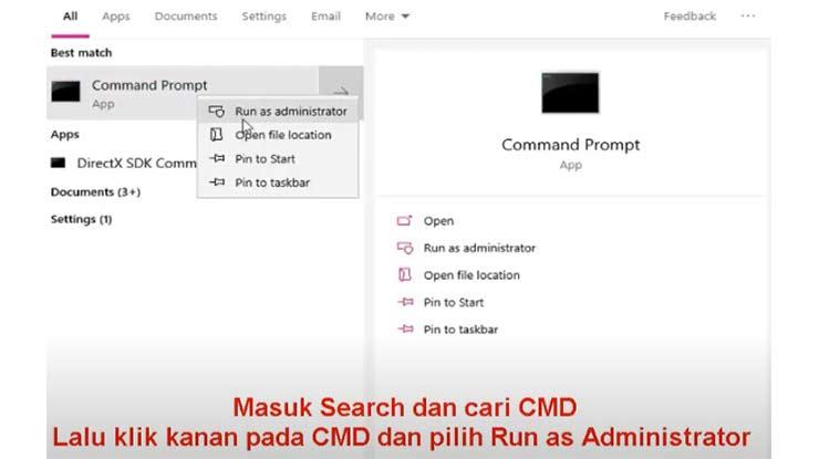 Start CMD Run As Administrator