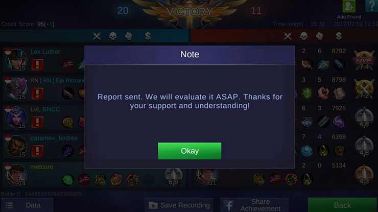 Terkena Report Oleh Pengguna Lain