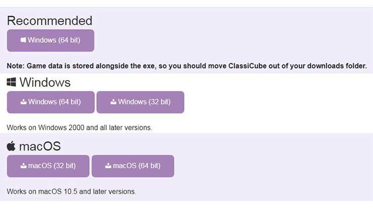 Download ClassiCube Minecraft