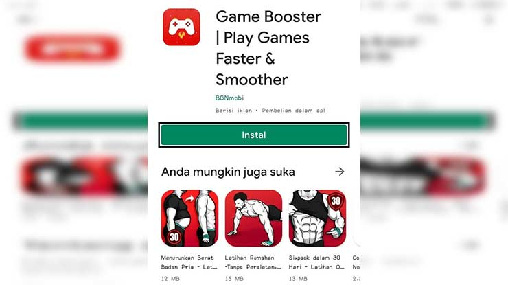 Instal Aplikasi Game Booster