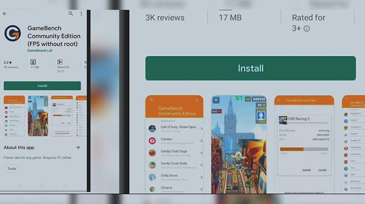 Instal Aplikasi GameBench Community Edition