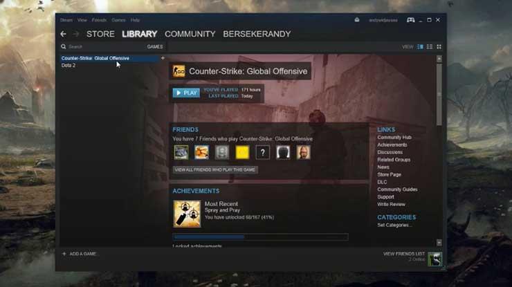 Jalankan Steam di PC