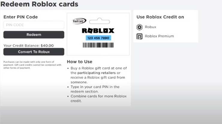 Klik Convert to Robux