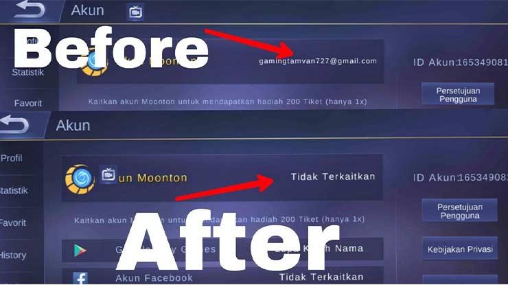 Cara Unbind Akun Moonton Mobile Legends Pasti Berhasil