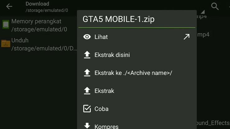 Ekstrak File GTA 5 Android