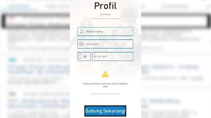 Lengkapi Profil