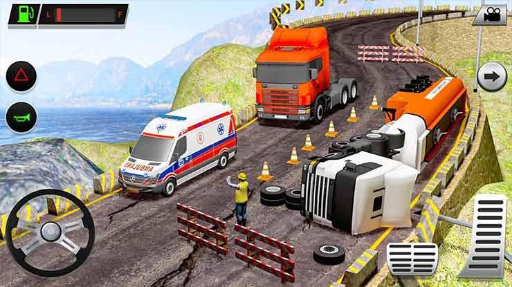 Offroad Oil Tanker Transport Truck Driver