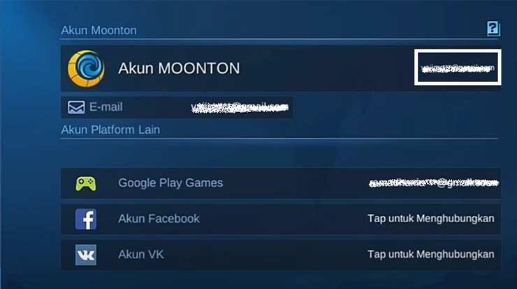 Screenshot Bagian Email Moonton